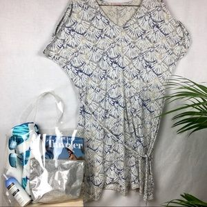 Fresh Produce seashell print cover-up